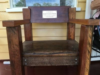 Man honoured with railway sleeper chair