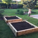 THE 3 R's. RAILWAY SLEEPER RAISED BEDS IN RUTLAND