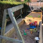 Jake's family railway sleeper project. Raised bed fun for everyone!