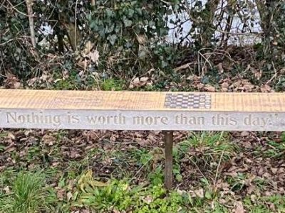 'NOTHING IS WORTH MORE THAN THIS DAY' PROCLAIMS RAILWAY SLEEPER