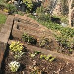 BERNIE'S RAISED BEDS FROM OLD TROPICAL HARDWOOD RAILWAY SLEEPERS