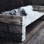 Norwegian settee from used railway sleepers