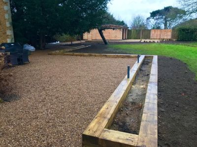 Ted & Liz's landscaping journey with new railway sleepers