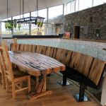 Three Glens Farmhouse furniture with railway sleepers