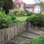 Old Cottage Walls from used Railway Sleepers