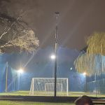JAMES'S FLOODLIGHTS and BALL NETTING with NEW TELEGRAPH POLES