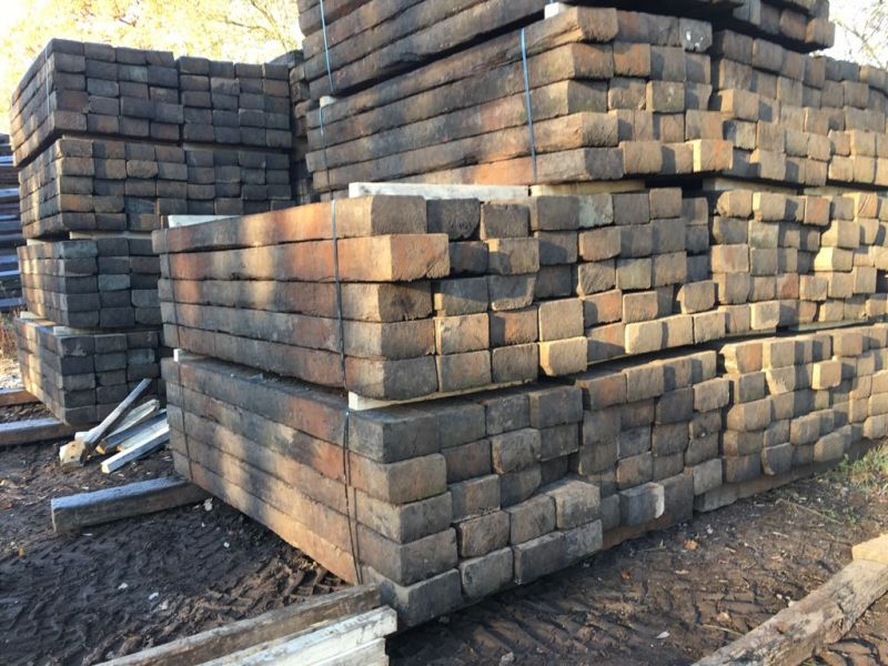 Used Grade 1 Azobe railway sleepers- Railwaysleepers com