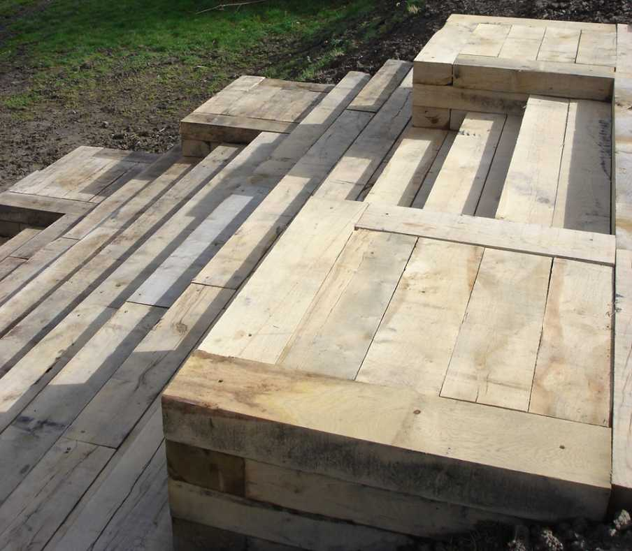 New Oak Railway Sleepers from Railwaysleepers com