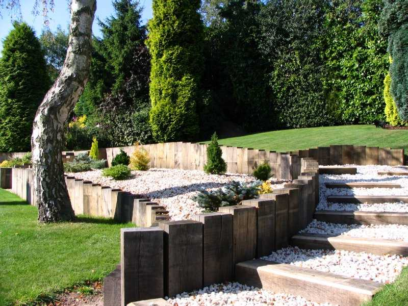 Retaining Wall Using Sleepers