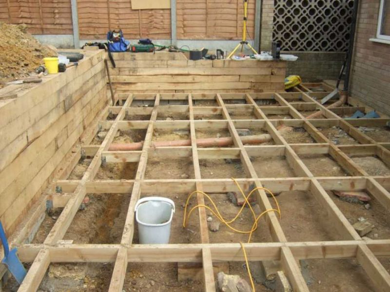 Railway sleepers for Decking framework timber