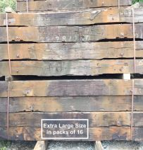 Used 'Square' Dutch Oak G1 Railway Sleepers