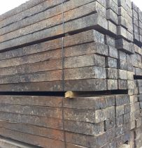 Used British Pine relay grade railway sleepers