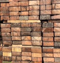Used G1-2 Jarrah & tropical hardwood railway sleepers