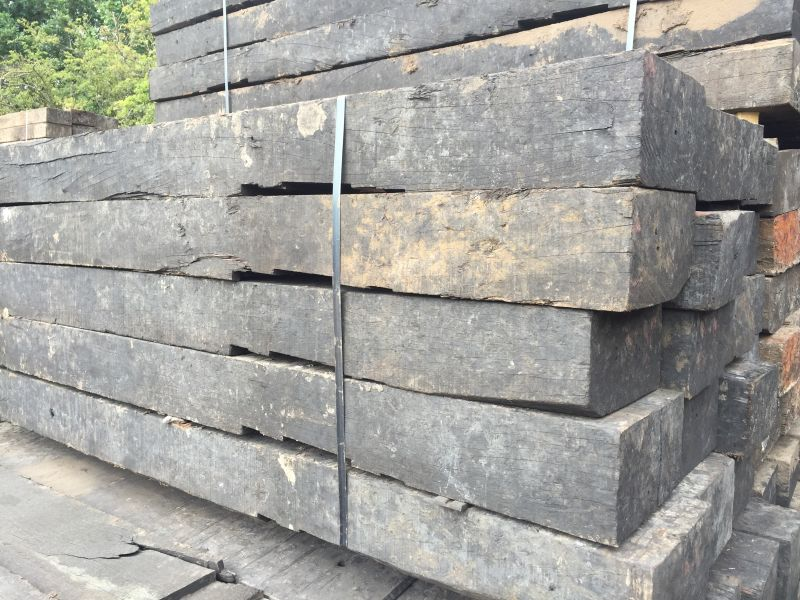 Used Azobe Notched Grade 1 Railway Sleepers