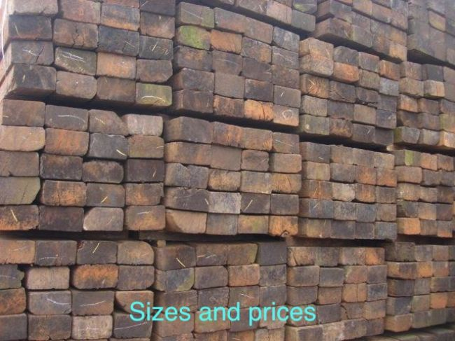 Railway Sleeper SIZES ££
