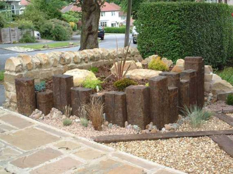 used grade 1 dutch oak railway sleepers railwaysleeperscom - Garden Ideas Using Sleepers
