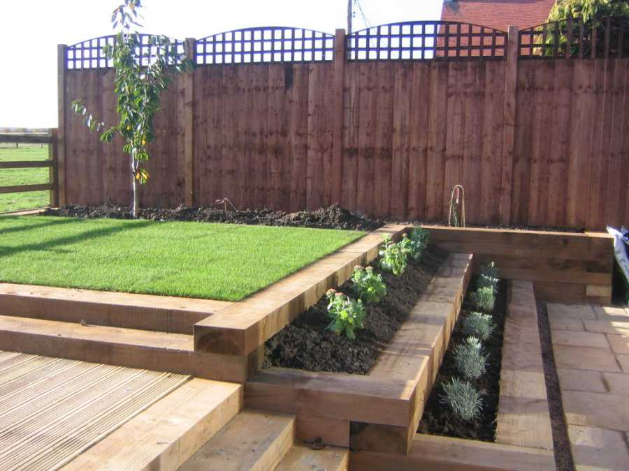 New eco british pine railway sleepers from railway for Garden design ideas glasgow