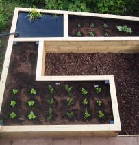 Mark Robinson's amazing raised vegetable beds & pond