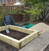 Linda's raised vegetable beds