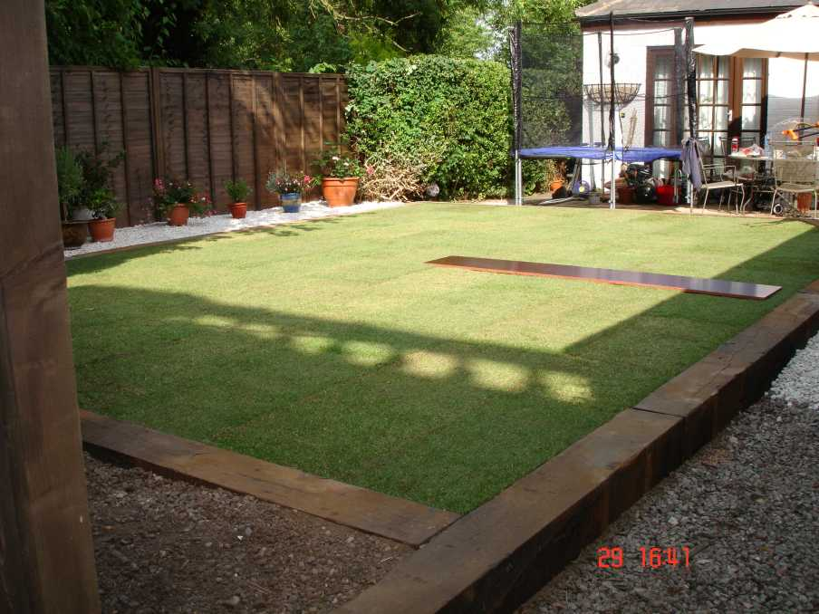 Railroad Ties Landscaping Patio