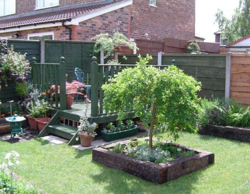 Andrew's railway sleeper landscaping