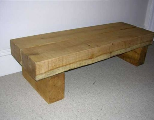 Andrew's railway sleeper bench / table