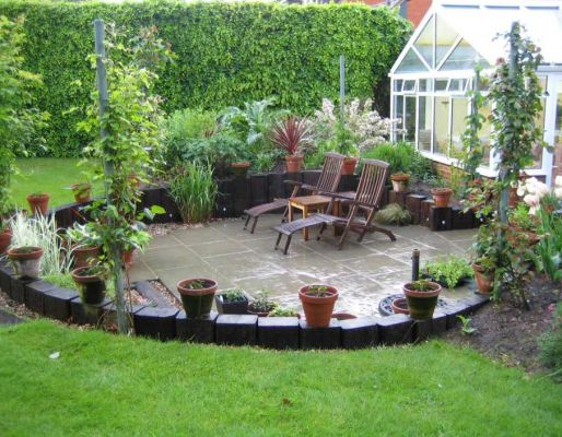 Andy Kyle's railway sleepers & landscaping