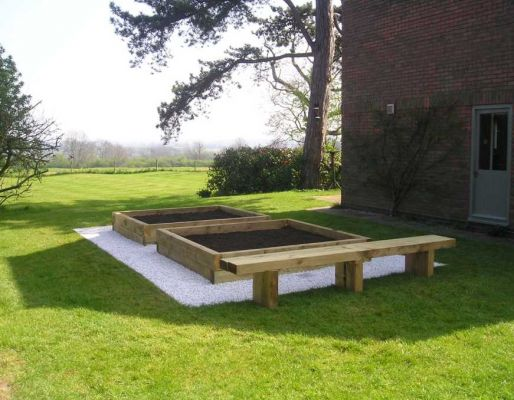 Andy Smith's peaceful landscaping with railway sleepers