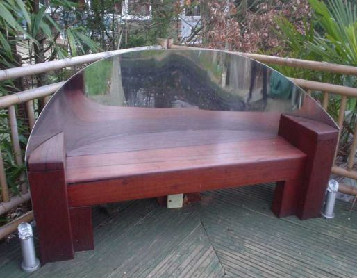 Anthony's railway sleeper garden bench