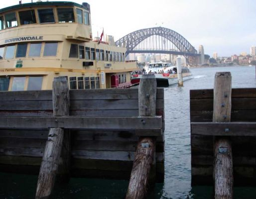 Australian harbour timber landscaping