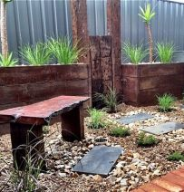Andrew's Australian raised beds and railway sleepers