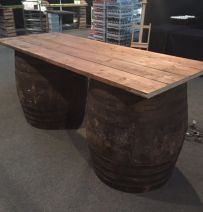 Fisher Productions rustic barrel table