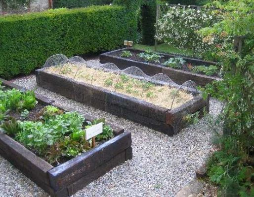 Barton William-Powlett railway sleeper garden beds