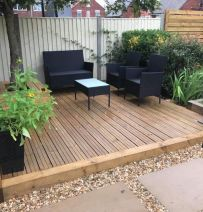 Beck & Beeston's garden renovations with new railway sleepers