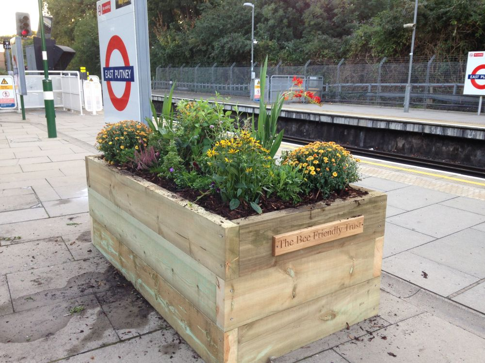 Putney Station Railway Sleeper Raised Beds
