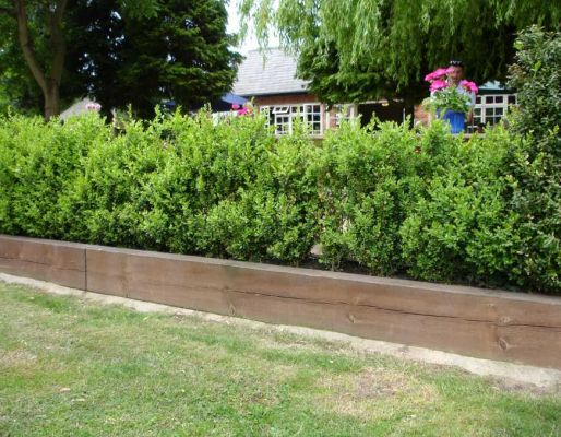 Belton Garden centre's railway sleepers & raised beds
