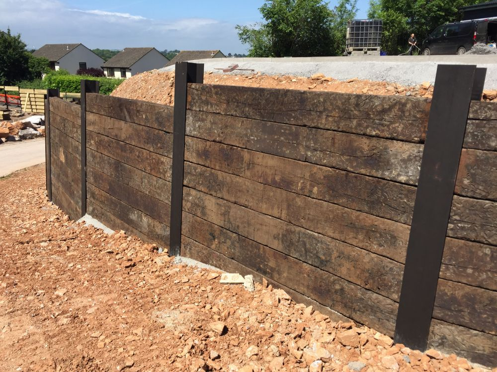 How To Build A Small Wall With Railroad Ties