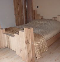 Brian's king size bed & coffee table from railway sleepers