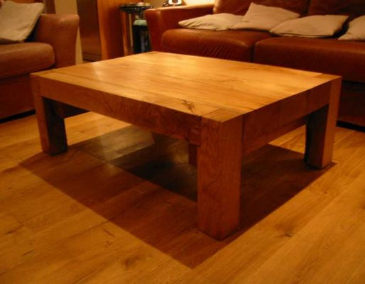 Bruce Buxton's oak railway sleeper table