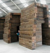 Caro's Babylon Sculpture with used Jarrah railway sleepers