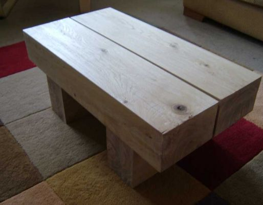 Charlie's railway sleeper coffee table
