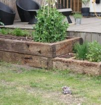 Chris's raised beds from used oak railway sleepers