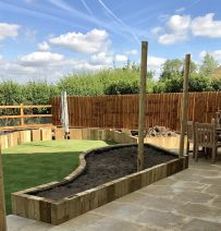 Chris Wiseman's railway sleeper landscaping