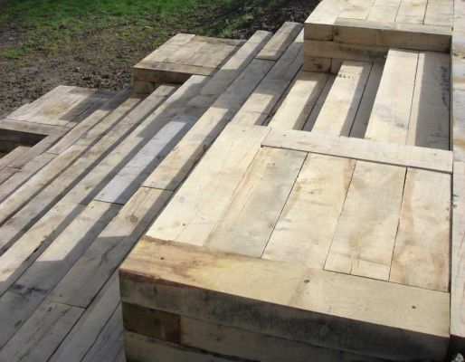Chuck Bartron's magnificent steps with railway sleepers