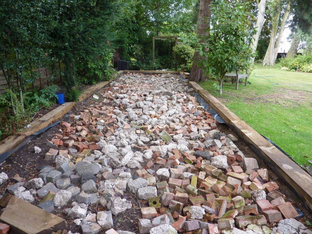 Petanque Or Boules Court With Used Railway Sleepers