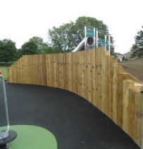 Sutcliffe Play project with railway sleepers