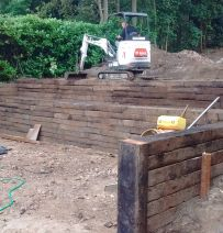 Dan's huge railway sleeper project