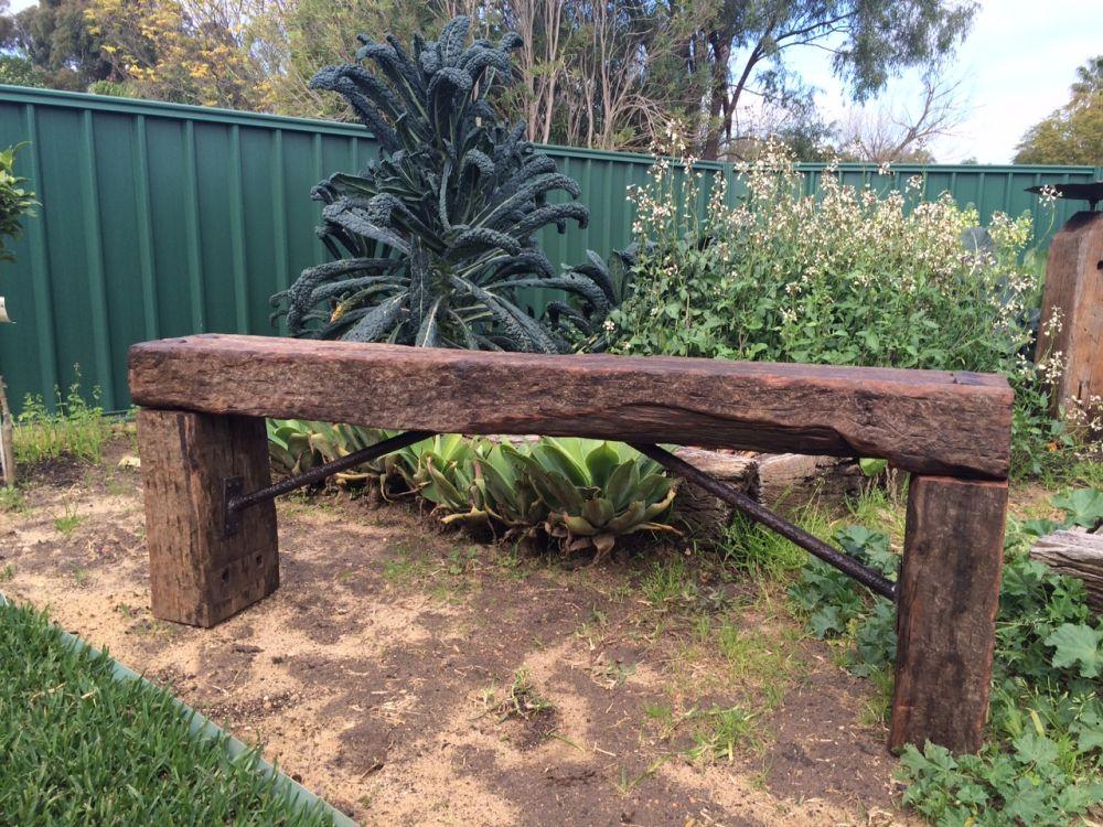 used jarrah railway sleeper bench. Black Bedroom Furniture Sets. Home Design Ideas