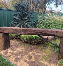 Darren's classic bench from weathered Jarrah Railway Sleepers