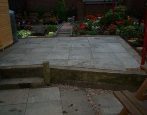 Dave Barclay's landscaping used with railway sleepers